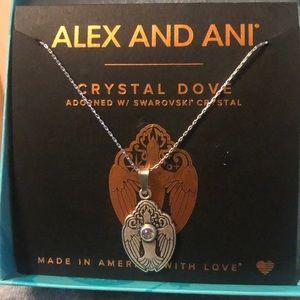 Alex and Ani Crystal Dove W/ Swarovski Crystal